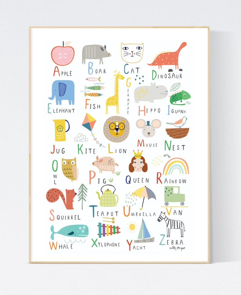 Alphabet  Wall art   wall art   Children's prints  image 0