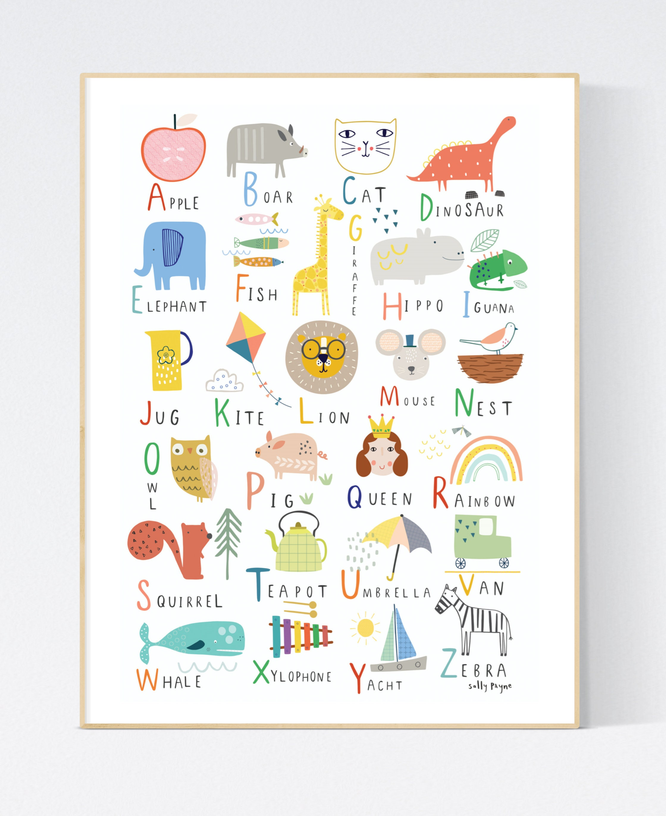 Alphabet  Wall art -  wall art -  Children's prints -  Children's wall art - Children's Illustration