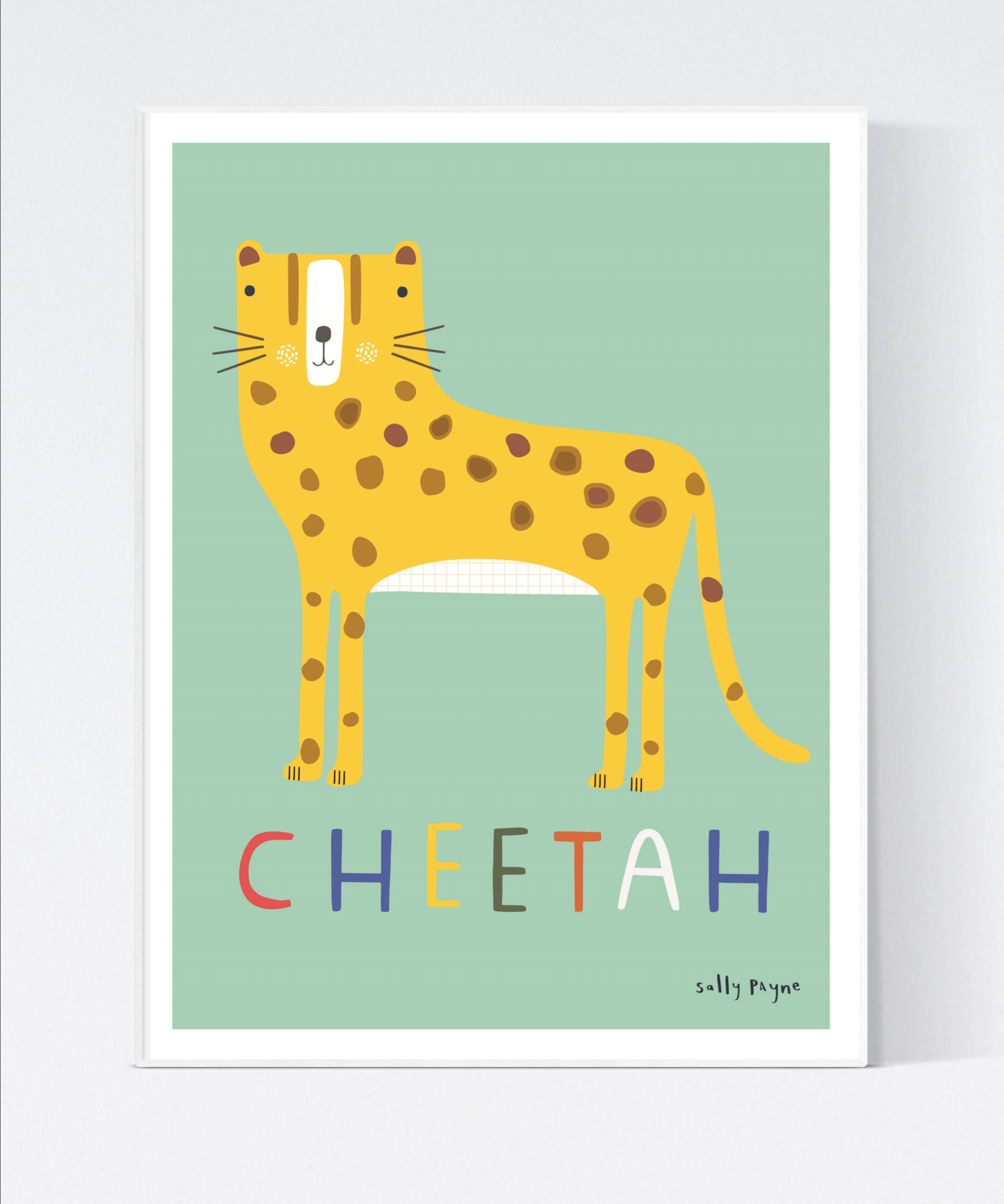 Cheetah Wall art -  wall art -  Children's prints -  Children's wall art - Children's Illustration