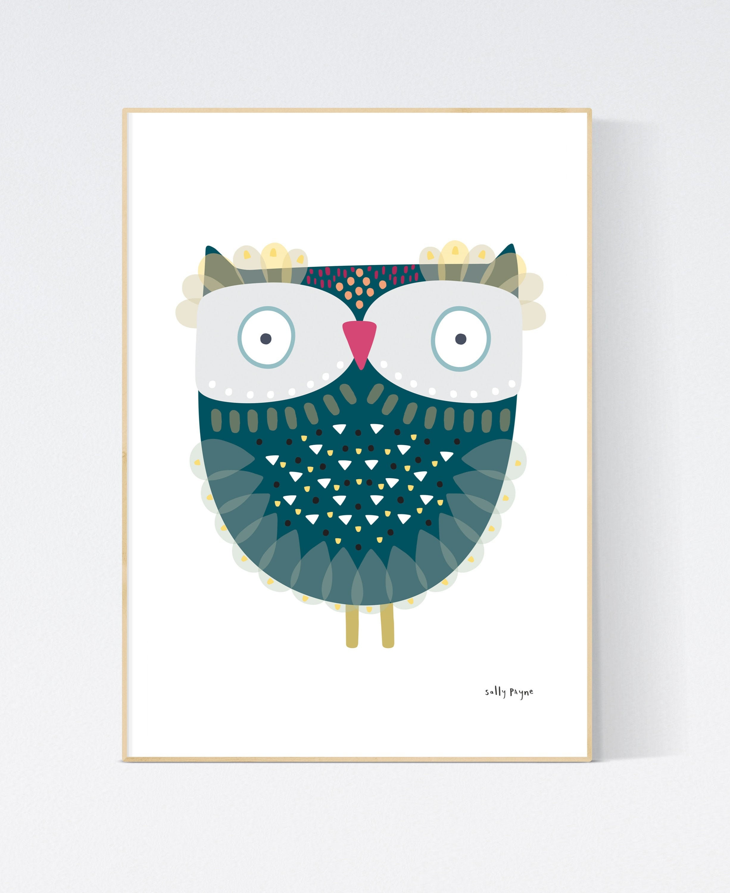 Owl  Wall art -  wall art -  Children's prints -  Children's wall art - Children's Illustration