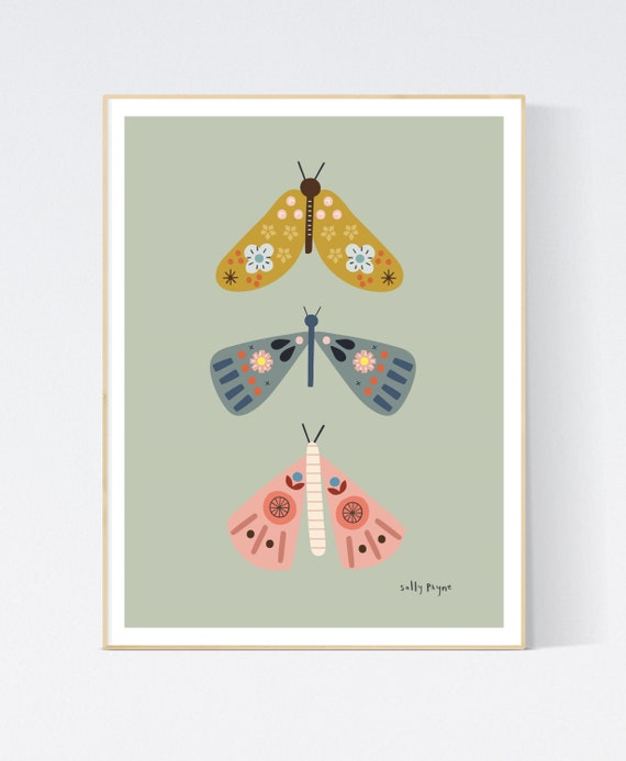 Butterfly trio-  children's prints