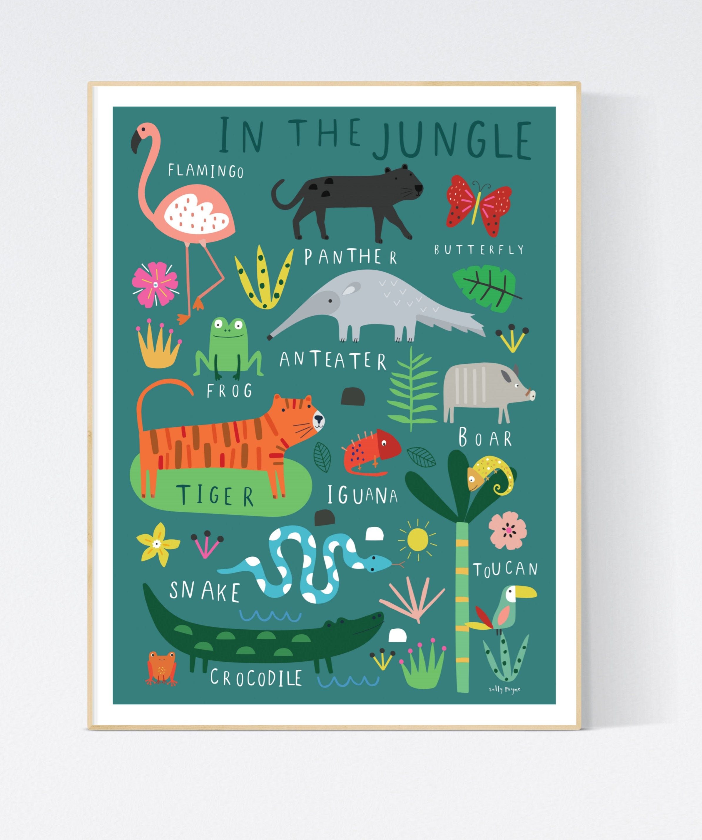 In the Jungle  Wall art -  wall art -  Children's prints -  Children's wall art - Children's Illustration