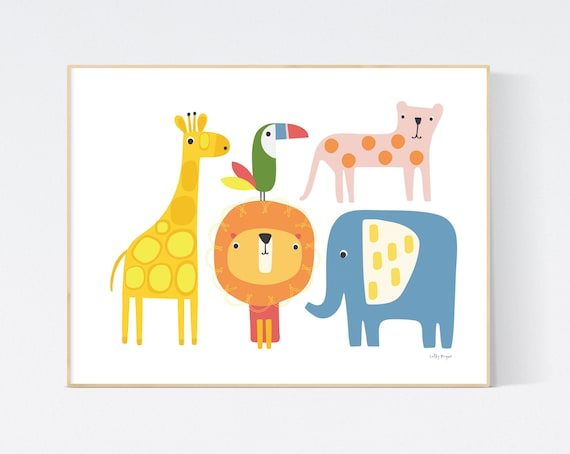 Jungle animals  wall art