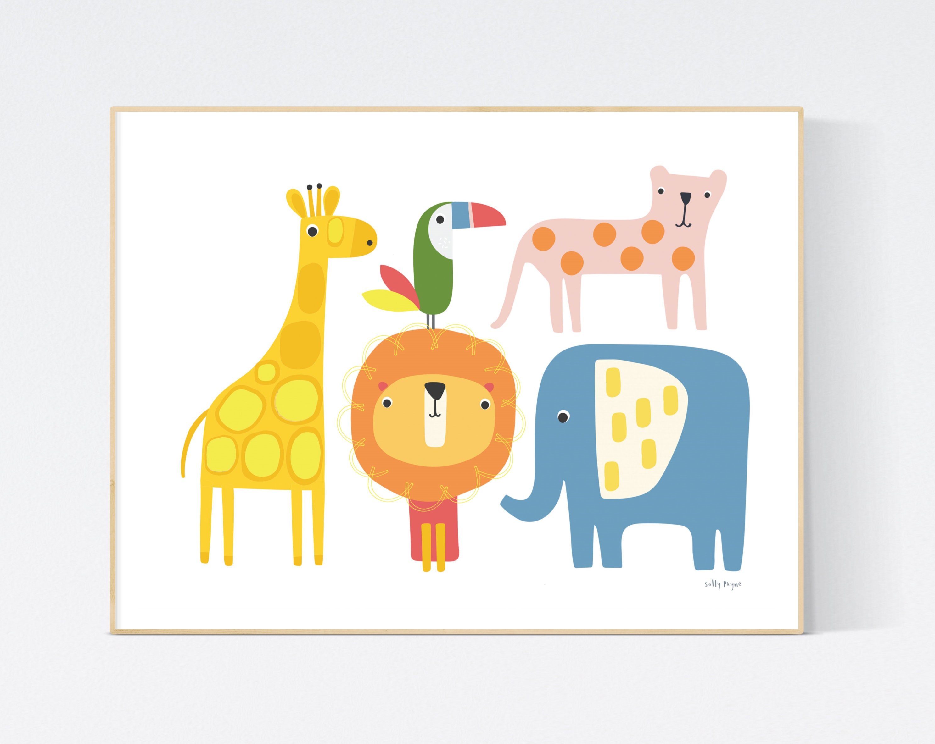 Jungle animals  Wall art -  wall art -  Children's prints -  Children's wall art - Children's Illustration