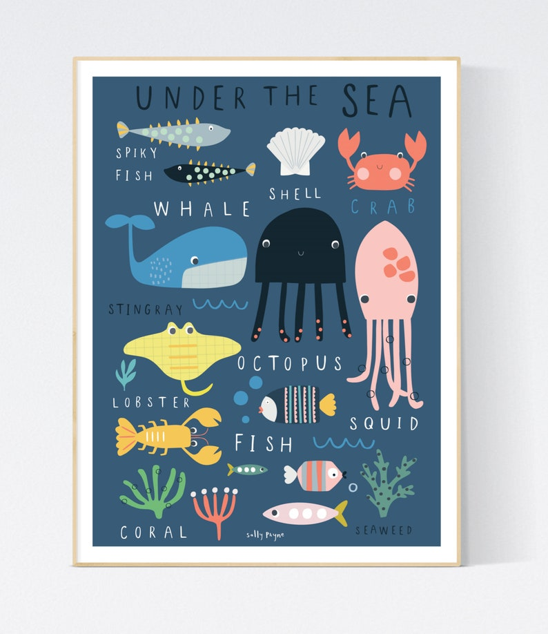 Under the sea Wall art   wall art   Children's prints  image 0
