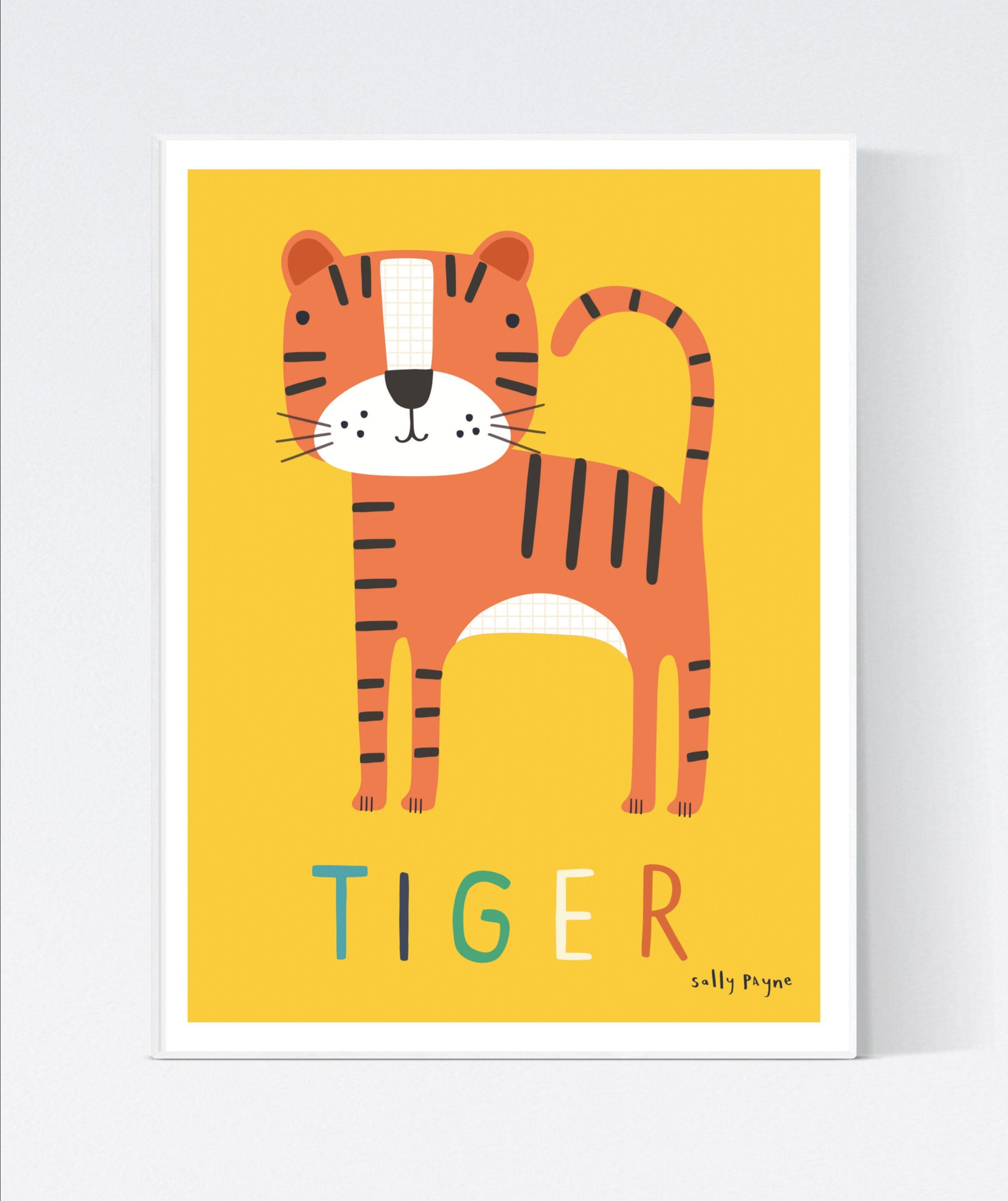 Tiger  Wall art -  wall art -  Children's prints -  Children's wall art - Children's Illustration