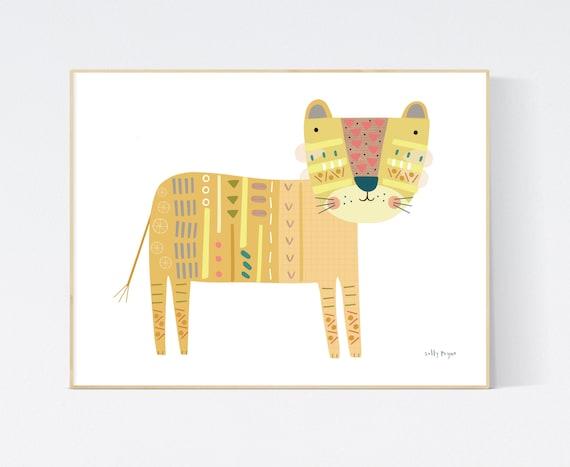 Lion print wall art