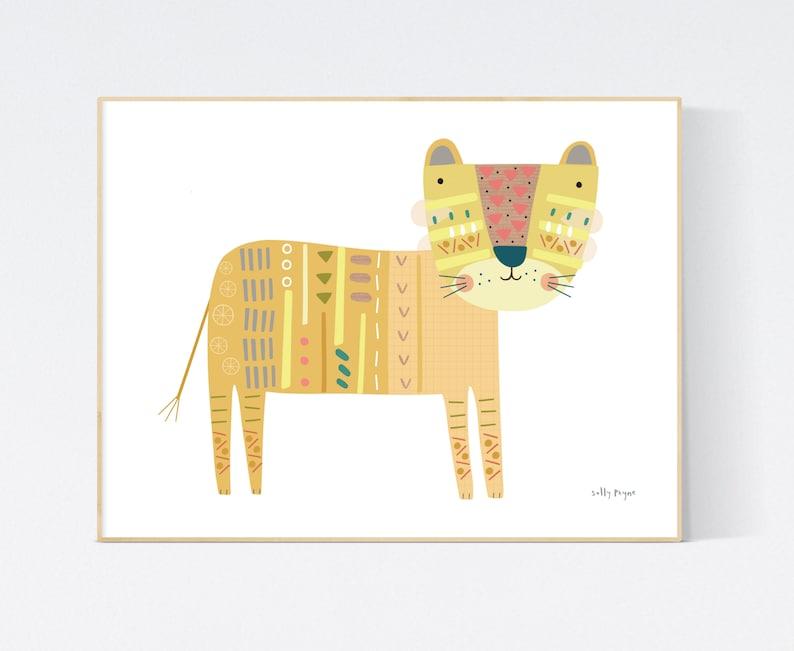 Lion print Wall art   wall art   Children's prints  image 0