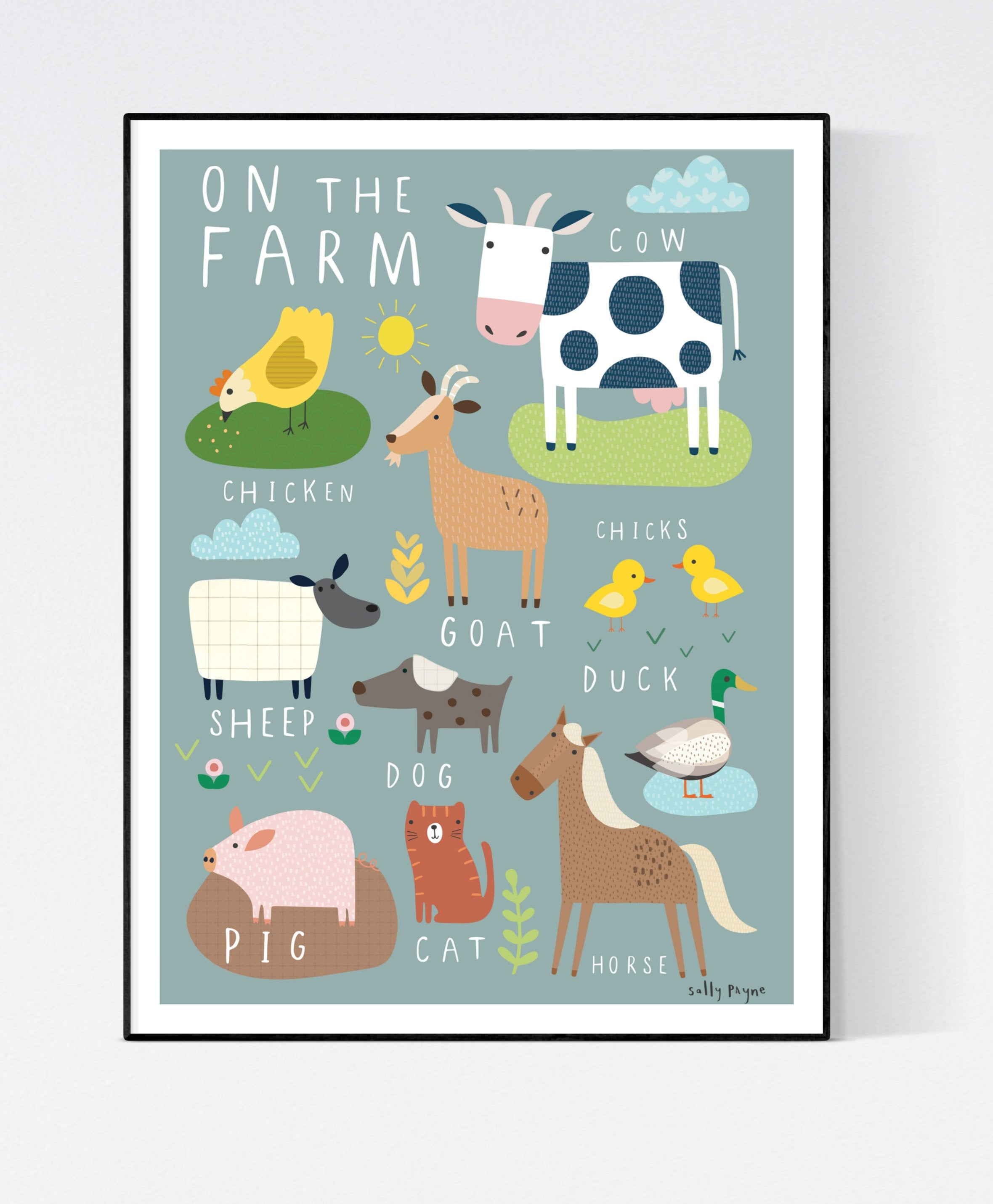 On the Farm  Wall art -  wall art -  Children's prints -  Children's wall art - Children's Illustration
