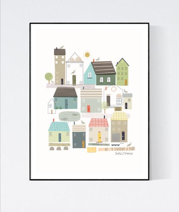 Coastal house print