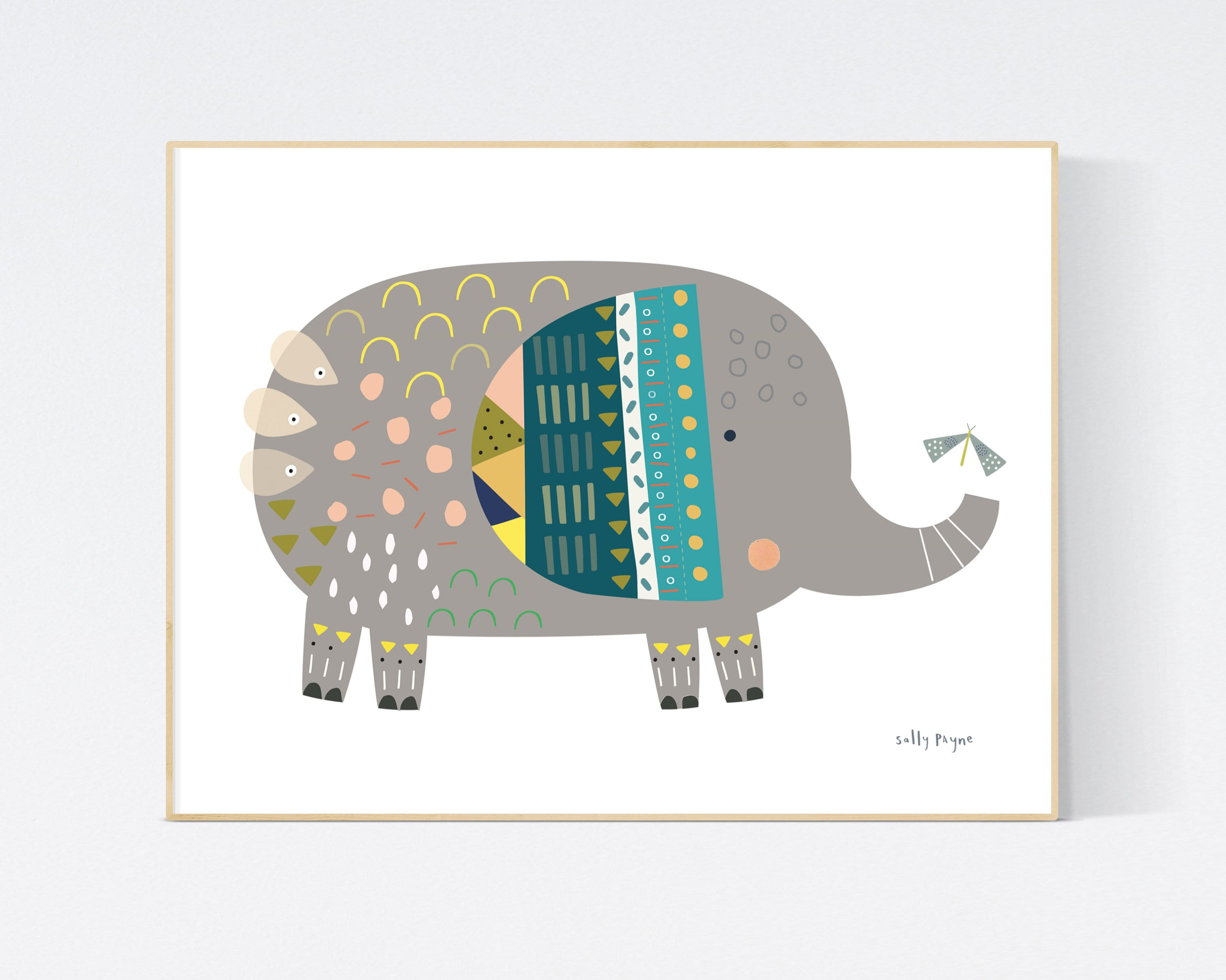 Elephant print Wall art -  wall art -  Children's prints -  Children's wall art - Children's Illustration