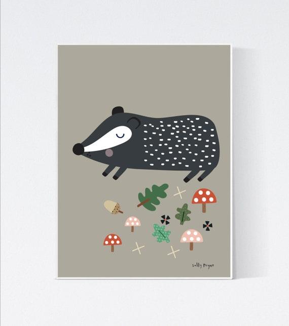 Badger wall art