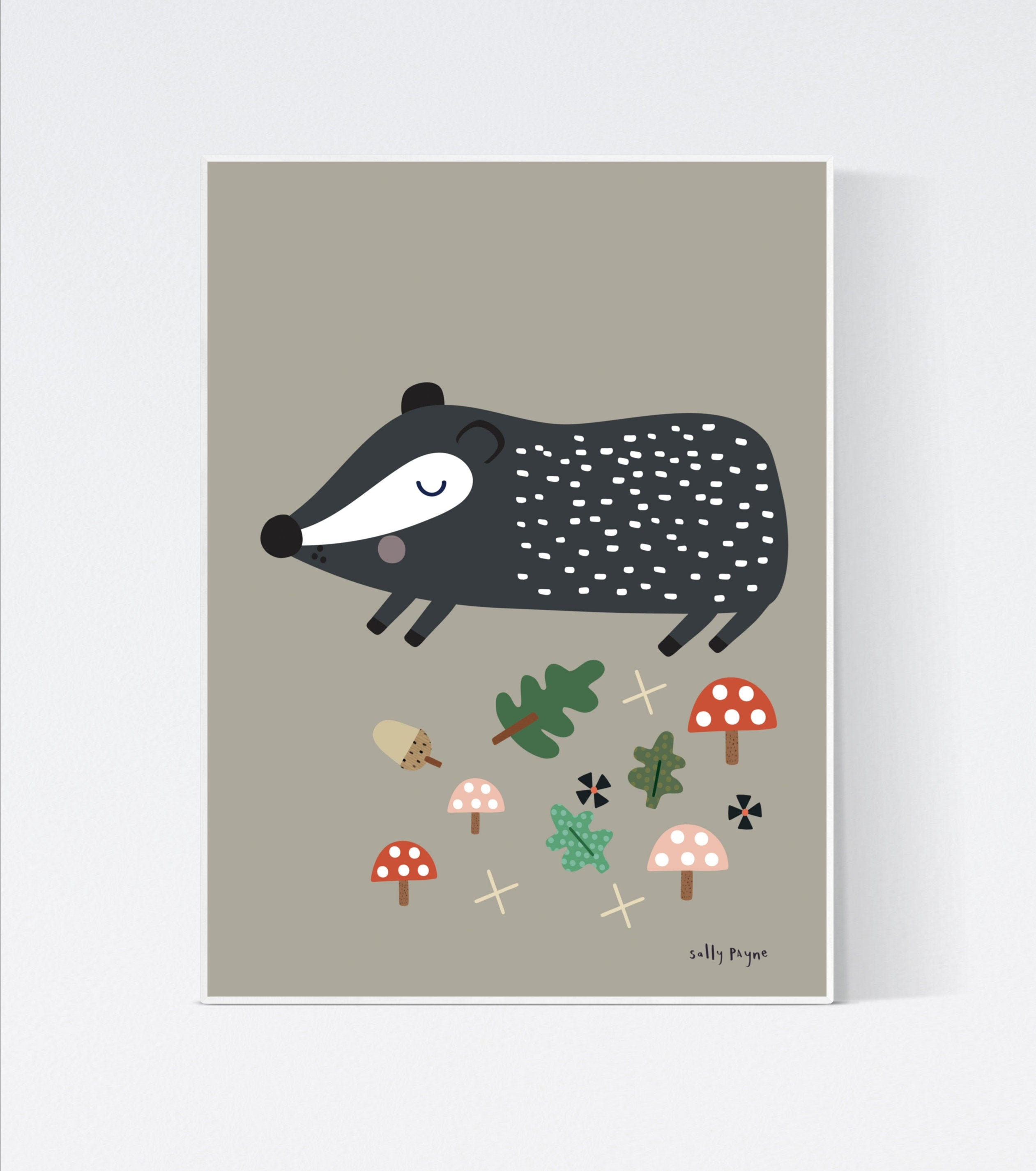 Badger Wall art -  wall art -  Wall prints - Children's wall art