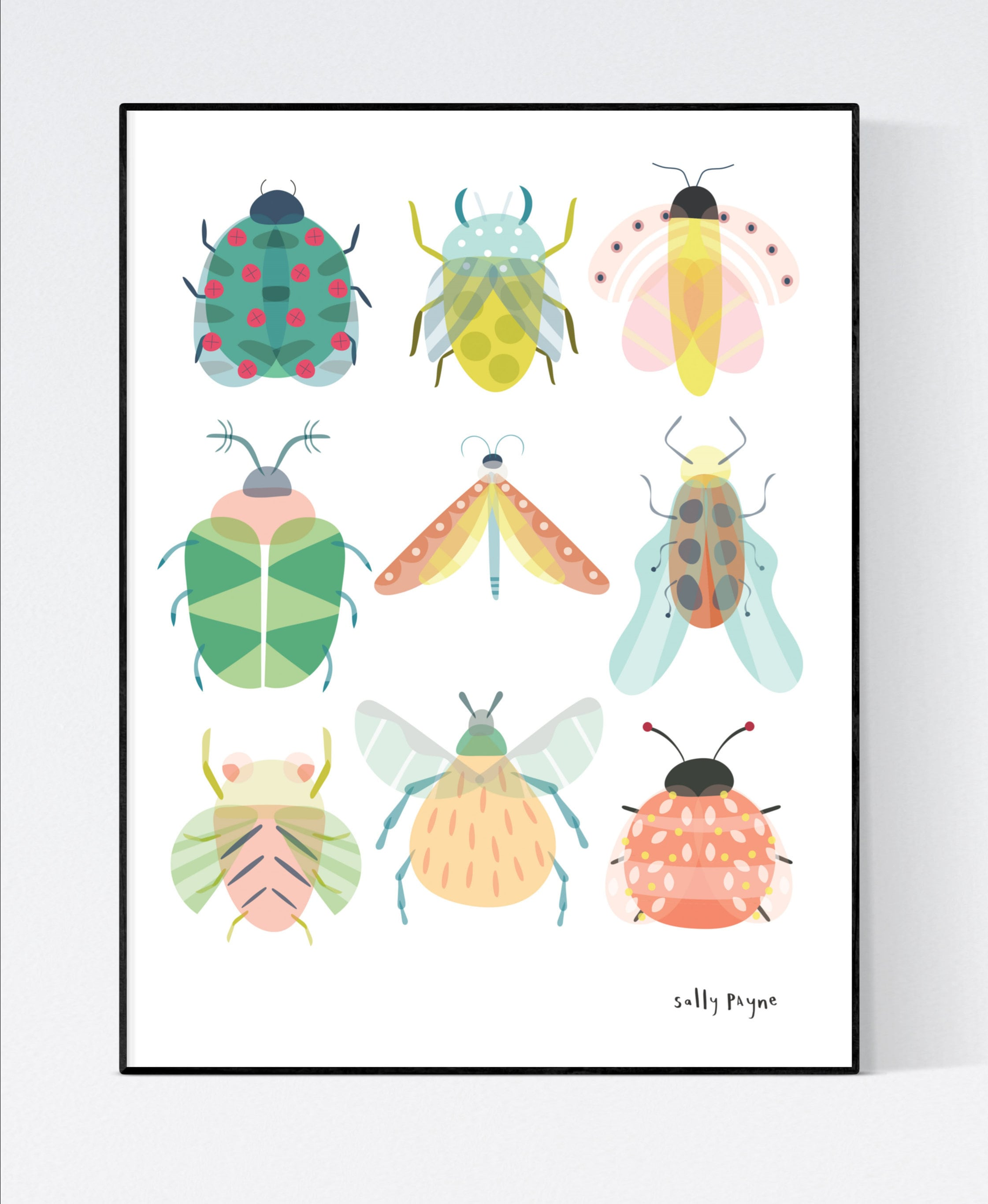 Bug Wall art -  wall art -  Children's prints -  Children's wall art - Children's Illustration