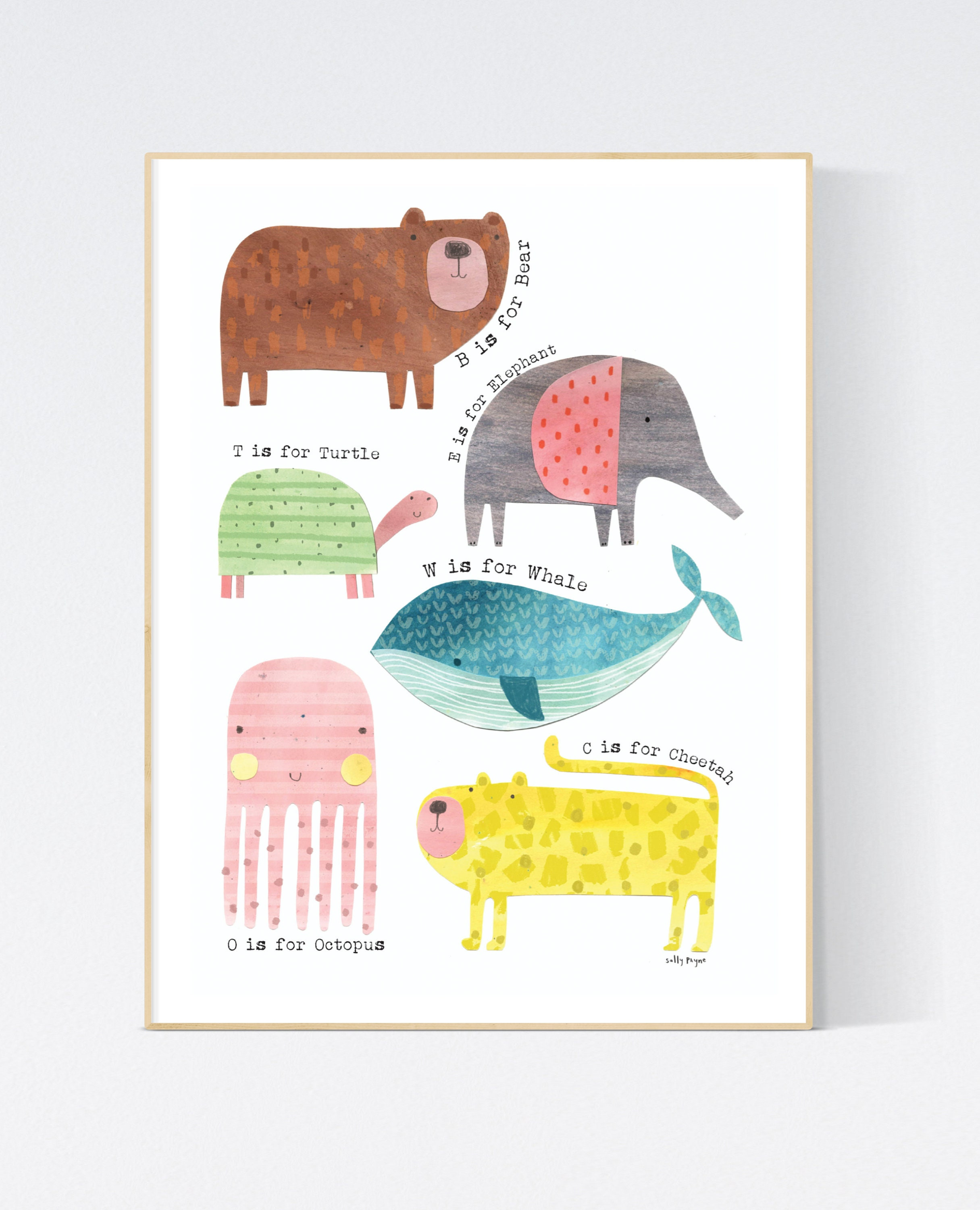 Animal  Wall art -  wall art -  Children's prints -  Children's wall art - Children's Illustration