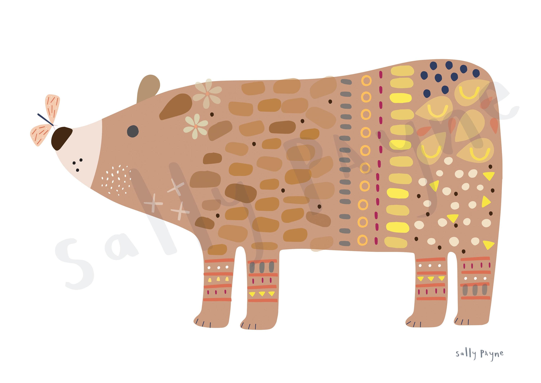 Bear print Wall art -  wall art -  Children's prints -  Children's wall art - Children's Illustration