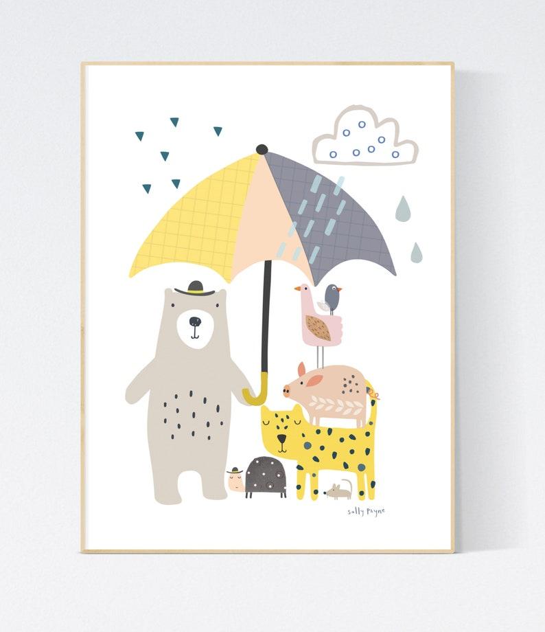 Mixed Animal print Wall art   wall art   Children's image 0