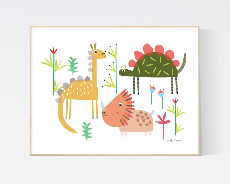 Dinosaur print Wall art   wall art   Children's prints  image 0