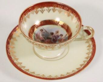 Schöne alte Tasse mit Untertasse Sammeltasse Bing /& Gröndahl Nr 102