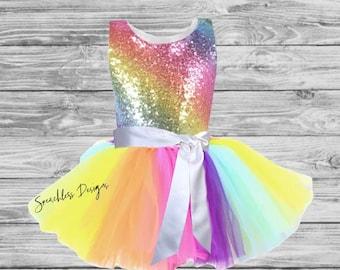 a1d52bb41f83 Baby Girls Rainbow Dress