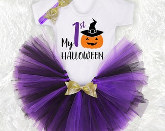 Halloween Outfit personalised First Halloween Baby Tutu outfit Halloween children costume Halloween baby party Halloween baby and children