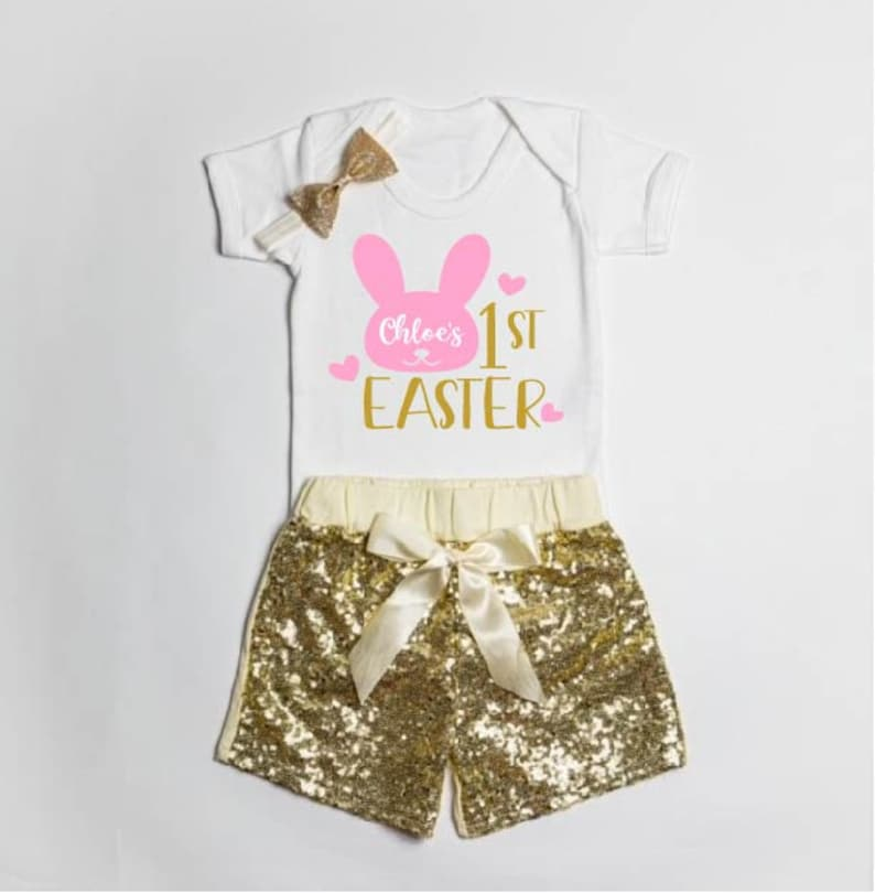 Gift For Kids Gift For First Easter First Easter Outfit Easter Bunny Personalised Easter Costume