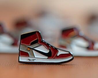 689709fdc5d Nike Air Jordan 1 off white enamel pin