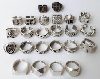 Men rings, Silver signed ring, Men jewelry, Silver men jewelry, Band ring, Mens ring silver, Fashion men ring, Mens ring, Stacking ring Gift
