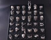 Mens Ring Gothic rings Scull ring Rings for men Animal ring Bofriend ring Signed men rings Men ring Wolf men ring Snake men ring Medusa ring