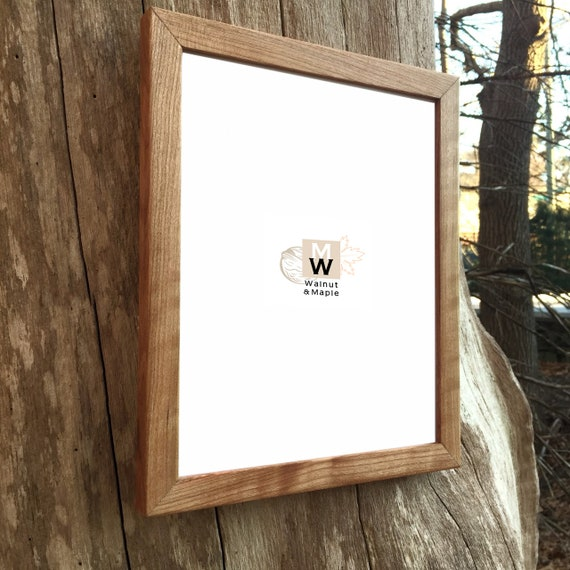 Photo Frame Wedding Gift Walnut Frame 8x10 OR 8.5x11 Thick Solid Walnut Wood Picture Frame Home Decor Handmade Natural Wood Frames