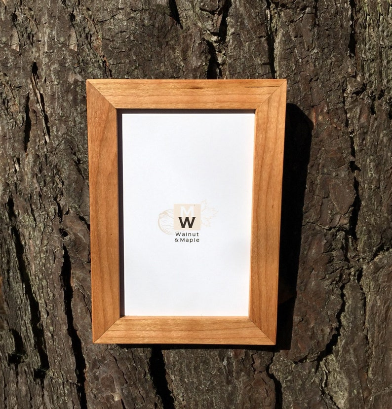 4x6 Cherry Frame Handmade Wood Photo Frames Wedding Photo Frames Wooden Cherry Frames 4x6 Wood Frame Standing And Leaning Frame