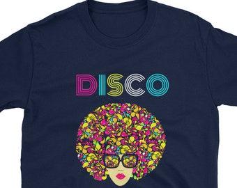 19af066d0 Short-Sleeve Unisex T-Shirt, disco dancer gift, 70s party, disco tee shirt,  dancer shirt, italo disco, roller disco shirt, men women.