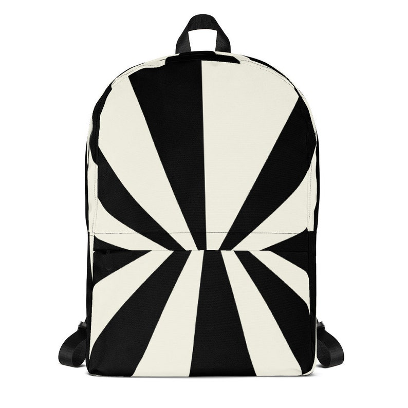 Candy Stripes cream and black  All-Over Print Backpack