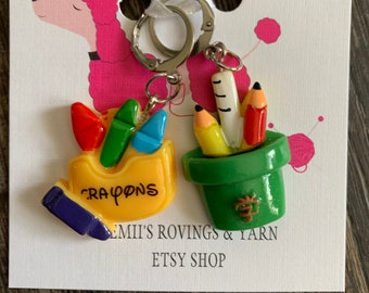 Progress Keepers - Stitch Markers - Crayons