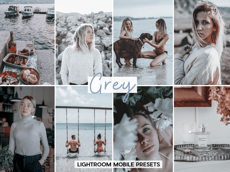 Film Presets Lightroom Mobile Presets, Grey fashion blogger presets,  instagram presets