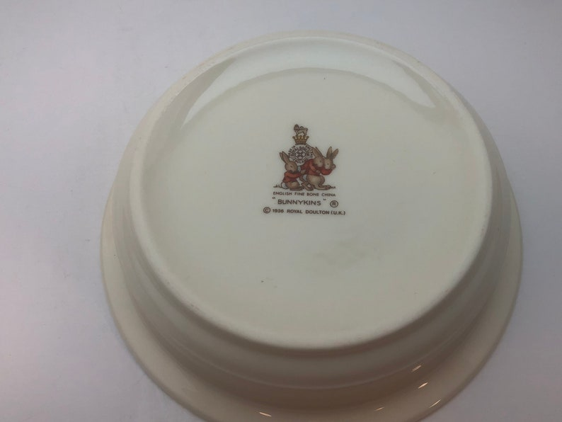 Royal Doulton Bunnykins Ivory Child/'s Bowl Vintage Replacement China