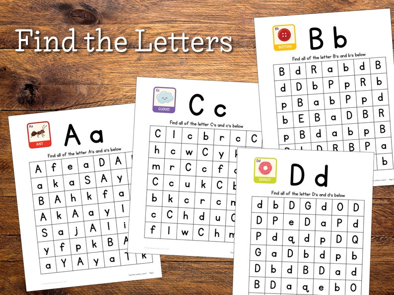 Find the Letters  Levels 1 & 2 image 0