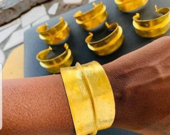 Gold Colour Fulani Braceletcuff