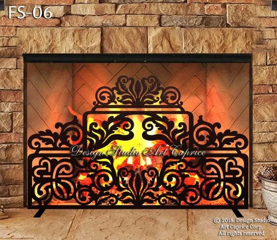 Fireplace Screens Mild Steel and Laser Cut Metal Art FS-15