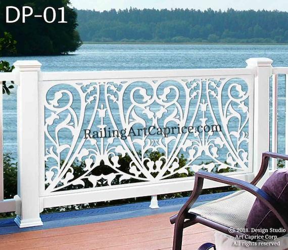 Decorative Metal Deck Railing Panels  from i.etsystatic.com