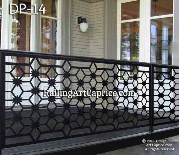 balcony railing code Metal Railing Panel Balcony Insert Deck Panel Staircase Design Privacy Screen Fence Custom Order Outdoor Or Indoor 14