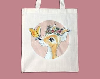 Jute bag roe deer