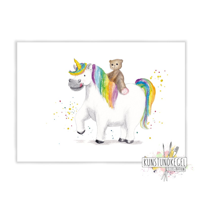 Hilla squirrel art print nursery décor teddy rainbow art and image 0