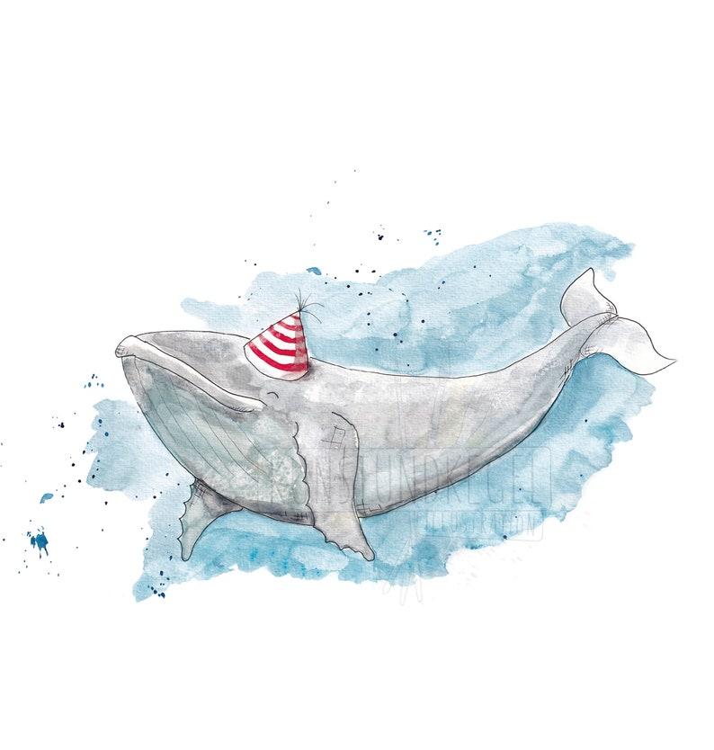 Benni humpback whale art print nursery décor whale art and image 0