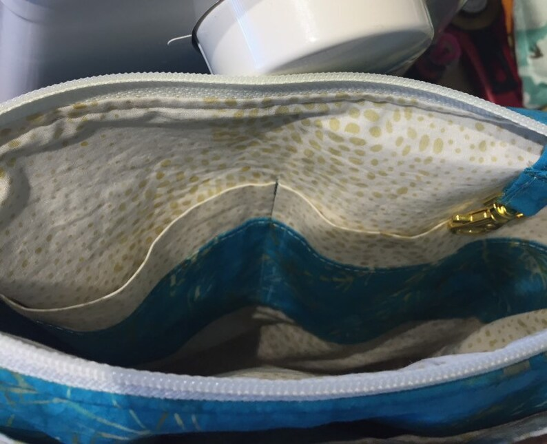 Cork and batik adjustable crossbody bag