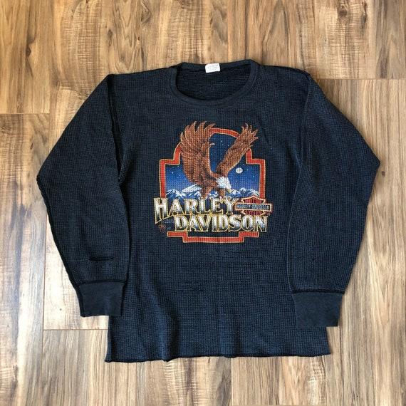 Harley Davidson Long Sleeve Shirt 1987 Vintage The