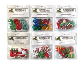 Christmas Buttons Etsy