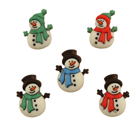 WINTER WOOLIES BUTTONS GALORE NOVELTY CRAFT BUTTONS Hat Gloves Sew Embelishment