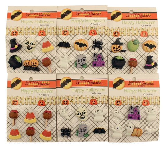 Buttons Galore 50 Romance Buttons for Sewing /& Crafts Set of 6 Button Packs