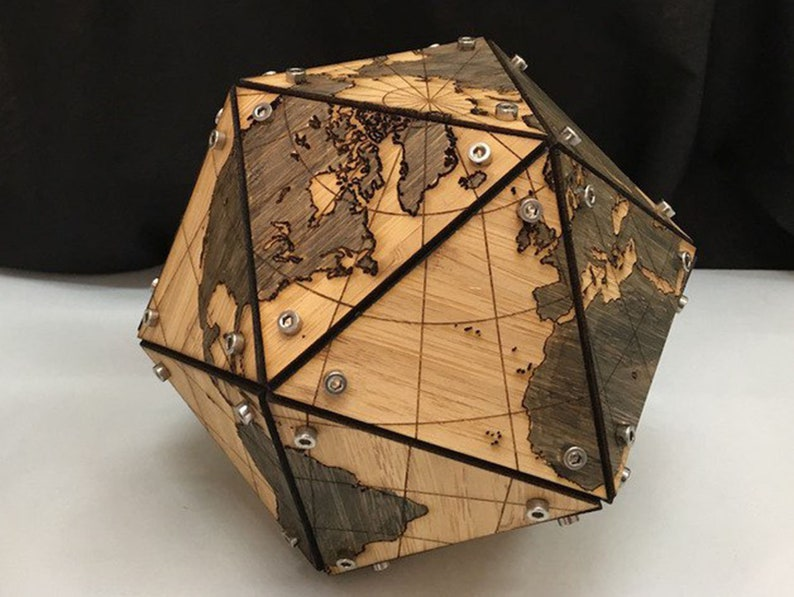 Digital Design Model Of The Globe CNC And CNC Milling Design For Laser Suitable For Mass Production Vector Plan For Laser Cutting 3D Puzzle